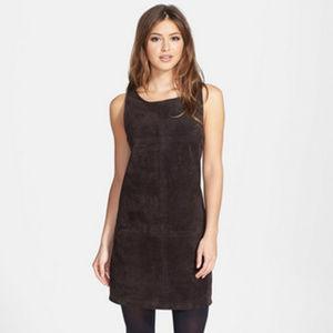 BB Dakota Brown Leather Shift Dress Size Small New